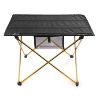 Wholesale Portable Camping Table Outdoor Golden Aluminium Alloy Foldable Folding Picnic Table Ultralight Mesa Plegable For Hiking Picnic