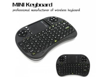 Wholesale HOT Portable Backlight mini keyboard Rii Mini i8 Wireless Keyboard Touch Pad with retail package shipped overseas warehouse