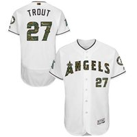 angels camo - Custom Mens Los Angeles Angels of Anaheim Mike Trout White Camo Font Fashion Memorial Day Flex Base Baseball Jersey