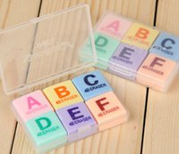 abc promotional gifts - Hot Sale ABC English Letter Erasers School Supplies Students Reward Homework Use Painting Eraser Christmas Gifts Promotional PL