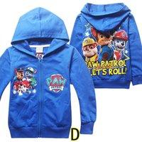 Wholesale Designs Dog Paw Kids Hoodies Kids Long Sleeve Hoodied Kids Sweatshirt Kids Spring Autumn Casual Clothes Kids Clothes LA246