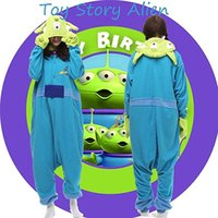 alien fancy dress - Hot Anime Cute Toy Story Alien Onesie Kigurumi Fancy Dress Costume cosplay Hoody Pajamas Sleepwear Size S M L XL