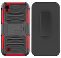 bag combos - For LG K3 Hot Colorful Rugged Durable Hybrid Combo Holster Belt Clip Kickstand Defender Armor Case Poly Bag Retail Packaging