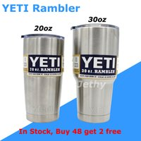 Wholesale YETI Rambler Bilayer Stainless Steel Insulation Cup OZ OZ YETI Cups Cars Beer Mug Large Capacity Mug Tumblerful