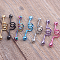 belly button plugs - Industrial Scaffold Barbell Earring Double Belly Button Ring Anodized g mm long color mix Body jewelry