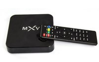 Wholesale MXV Android TV BOX MXQ Amlogic S805 Quad Core Contex A5 GHZ Mali Kodi GHZ Wifi Media Player