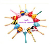 Wholesale Rattle Music Instrument Orff Instruments A Large Wooden Hammer Cartoon Children Early Education Fancy A Bell Toy