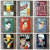 Wholesale 2016 cm classic vintage Beer Wine Cocktails Tin Sign Coffee Shop Bar Restaurant Wall Art decoration Bar Metal Paintings