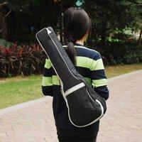 Wholesale 2015 New Black ZIKO DB18 Universal Shoulder Strap Pocket mm Pearl Wool Padded Gig Guitar Bag for quot Ukulele