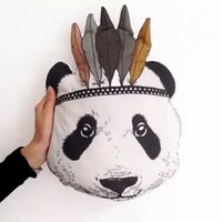 best sofa beds - Fashion Baby Stuffed Toys Pillow Kids Room Bed Sofa Decorative Indian Panda animal shaped cushions doll Children s Best Gift