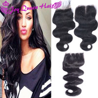 Wholesale 8A Brazilian Peruvian Malaysian Indian hair weave closure human hair lace frontal closure body Straight Loose Curly wave inches inch