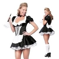 Wholesale Late Nite Maid Sexy Halloween Costumes Party costume Women Cosplay Dress Retail