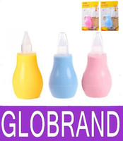 Wholesale Newborn Baby Nose Aspirator Nasal Vacuum Snot Sucker Cleaner Baby Care Products GLO118
