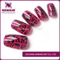 beautiful cracks - New arrival fashion false nails tips cracking style art acrylic fake tips patch nails decoration manicure tips ABS beautiful