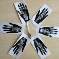 Wholesale 2015 new Popular of patterns Temporary Tatto Stencil Template Henna tattoo hands feet Painting Kit sexy girl