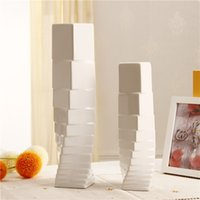 Wholesale Top selling White ceramic vase home water accessories flower arranging device brief