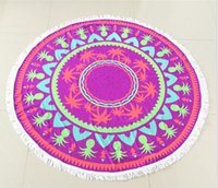 Wholesale Outdoor cushion microfiber beach towel round beach towels with tassels cm printing personalized printed beach towel Yoga mat suit