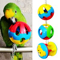 Wholesale Pet Bird Bites Parrot Toy Chew Ball Toys For Parrots Swing Cage Hanging Cockatiel brinquedos FEN
