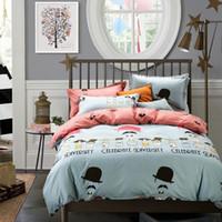 bedding for men comforter sets - Queen Size Cartoon Printed Bedding Set Bed Linen Quilt Bedsheet Pillowcase Duvet Cover Set For Kids Women Man Bedclothes