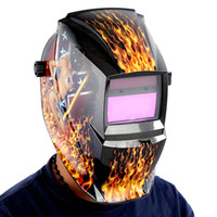 Wholesale White Skull Solar auto darkening TIG MIG MMA electric welding mask helmet welder cap lens for welding machine OR plasma cutter