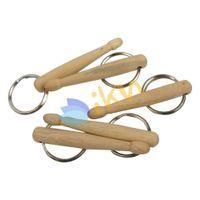 Wholesale NEW Plain Wood Mini Drumstick Key Rings for Drum Parts