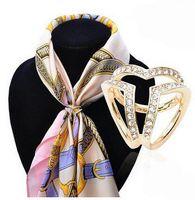 Wholesale 2016 Han edition golden three ring stewardess shawls scarves buckle