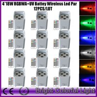 Wholesale XLOT Freedom Par Hex Wireless Battery Powered LED Stage Lights W RGBWA UV led wash uplights with IR controller