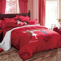Wholesale Z001 cotton reactive printing bedding set bedsheet duvet cover pillowcase textile bed clothes