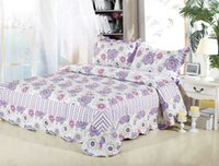 Wholesale Jessy Home Textile Patchwork quilts Flower Printing comforter set quilted bedspread Bed Cover Quilt Pieces Queen King Set
