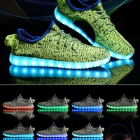 adult flash light - LED Woman Shoes Light Colorful Flashing Shoes With USB Charge Unisex Fluorescent Couple Shoes Party Sport Casual Shoes Kid Adult XL A16