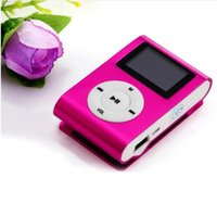 Wholesale New LCD Screen Metal Mini Clip MP3 Player with Micro TF SD Slot Portable MP3 Music Players