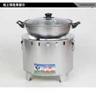 Wholesale Portable outdoor wood coal stoves stainless steel charcoal stoves outdoor picnic garden barbecue Home heating furnace