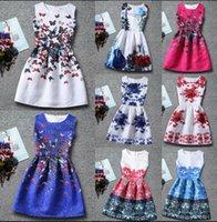 baby toddler swing - 13 design KKA73 Summer Girls Sleeveless Dress Swing Toddler Baby Princess Party Pageant Wedding Tutu Jumpsuit Butterfly Print Dress