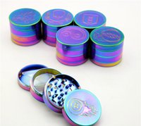 beautiful spices - DIY Beautiful mm Rainbow Grinders With Layers Grinder Zinc Alloy Material Top Tobacco Herb Grinders Smoking Herb Spice Crushers