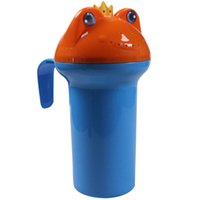 baby jug - Cut Cartoon Frog Kids Baby Child Wash Hair Bath Shower Eye Shield Shampoo Rinse Cup Rinser Sprinkler Jug