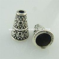 alloy trumpets - 18691 Vinatge Silver Alloy mm Trumpet Spacer Beads Cap Tassel End