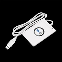 Wholesale ACR122U A9 USB NFC Smart Card Reader Writer For All types NFC ISO IEC18092 UID Rewritable Card SDK MF K Clone Software