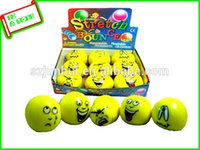 Wholesale 2016 High Quality Promotional Logo Printed Smiley Stress Ball Novelty Gag Toys FreeShipping