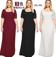 Wholesale Plus size sexy womens elegant lace A line party evening dresses homecoming formal dresses XL XL
