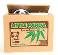 Wholesale Cute Money stealing Little Panda Piggy Bank Save Game Fun Coin Saving Box Money Bank Novelty Games For Kids and Adults