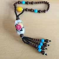 Wholesale Car Pendant Chinese On View Mirror Glass Bottle Painting Inside Traditional Chinese Painting Color Beads Accessories