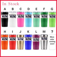 Wholesale Immediately Delivery Colors Yeti Rambler Tumbler Cup White Black Red Pink Orange Green Blue Purple oz Yeti Stainless Steel Mugs