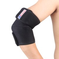 baseball elbow brace - Adjustable Outdoor Sports Elbow Brace Support Elastic Wrap Guard Pad Protector For Basketball Training Fitness Baseball Sports order lt no t