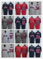 Wholesale 2016 Boston Red Sox Dustin Pedroia David Price David Ortiz Mookie Betts Base Baseball Jerseys Stitched Red White Blue