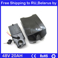 Wholesale W electric bike battery V AH lithium battery with A BMS V A charger