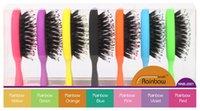 Wholesale 2016 Mane Brush Rainbow Bristle Hairbrush Professional Hair Care Brush Detangle Anti Static Hair Tools NNB
