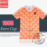 best european - Retro Version European Cup Classic Vintage Netherlands home Soccer jersey best quality Three Musketeers Gulitefan Basten football shirt