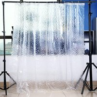 Wholesale Clear Thicker PEVA Diamond Shower Curtain D Water Cube Mold Water White Color