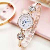 analog love - NEW love heart design watch fashion JW wrist watch ladies diamond thin bracelet watches dress quartz watches for women