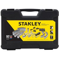 Wholesale STANLEY pc MECHANIC SOCKET RATCHET WRENCH TOOL SET SAE METRIC DEEP DR